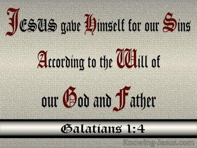Galatians 1:4