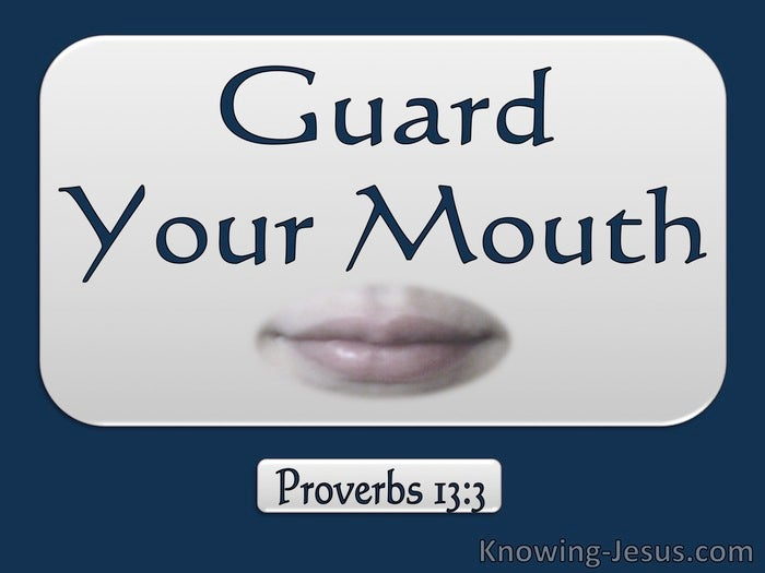 Image result for GUARDING YOUR MOUTH