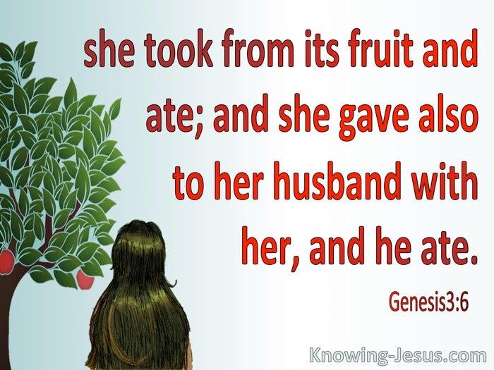 What Does Genesis 3:6 Mean?